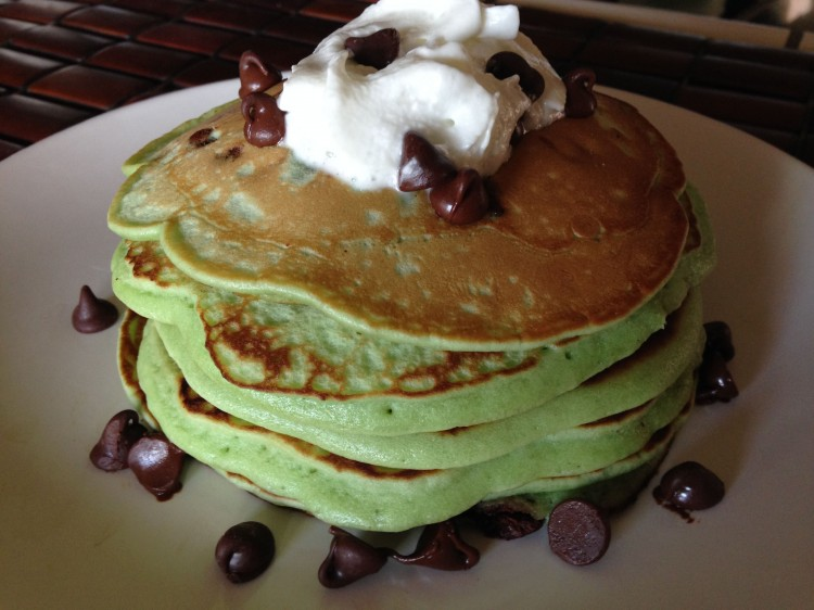 Mint Chocolate Chip Gourmet Pancakes Sweetstacks